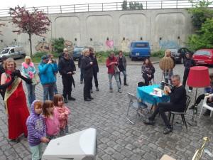 Protestaktion gegen A100-Ausbau, Zerstörung von Wohnraum & Mieterhöhung am 11.5.2014