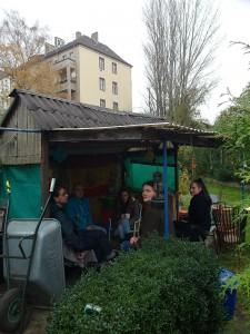 Diese Kleingärtner Innen bis Ende November 2014 in ihren Gärten bleiben: Kleingartenanlage Beermannstr. in Berlin-Treptow, die für die Verlängerung der Stadtautobahn A100 zerstört werden