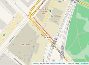 Übersichtskarte: Baumfällungen am Trepower Park wegen Stadtautobahn A100?-am-treptower-park-a100-plan
