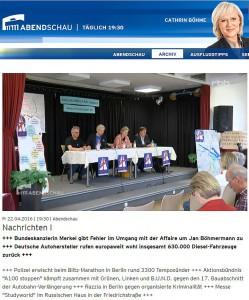"""rbb-Abendschau: Aktionsbündnis """"A100 stoppen"""" kämpft zusammen mit Grünen, Linken und B.U.N.D. gegen den 17. Bauabschnitt der Autobahn-Verlängerung"""
