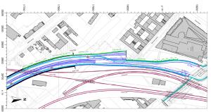A100: Bild 1.3 Übersichtslageplan der Änderungsvariante