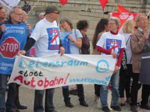 Aktionsbündnis A100 stoppen gegen die geplante Grundgesetzänderung für eine Autobahnprivatisierung