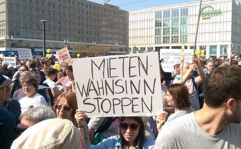 Wohnen statt A100! Demonstration gegen Mietenwahnsinn in Berlin
