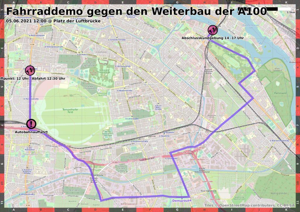 Fahrrad- und Inlineskate-Demo über die Stadtautobahn 5.6.2021