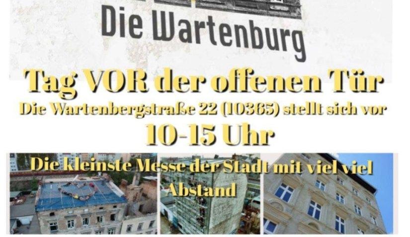 Tag vor der Tür am Sonntag, 30.5.2021 Wartenbergstraße 22