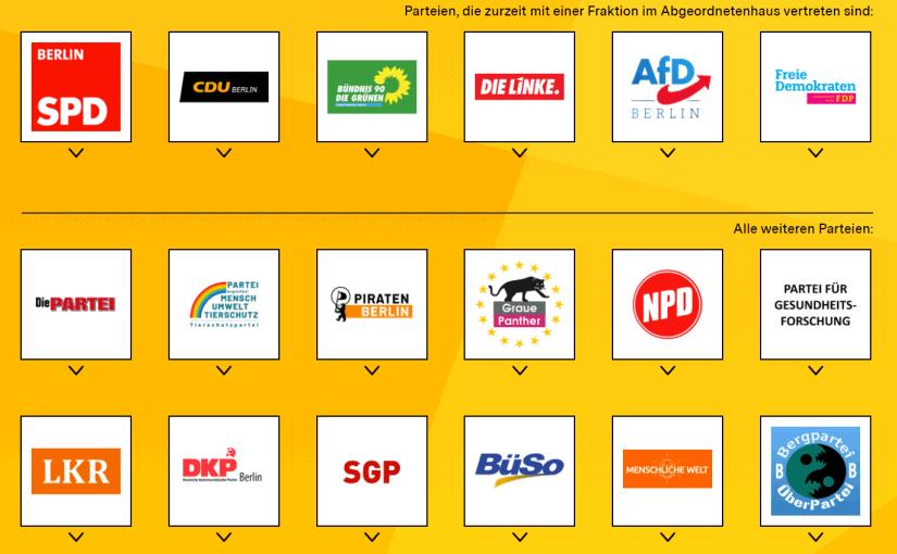 Abgeordnetenhaus-Wahlen in Berlin: Positionen der Parteien zur A100: